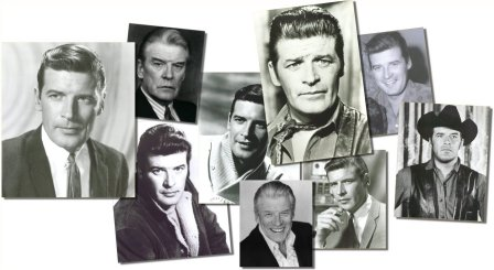 montage of Peter Breck pictures